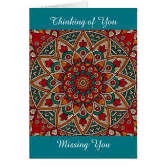 Falta de usted, agradecimiento de usted, tarjeta