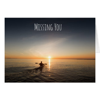 Falta de usted Canoeing en la tarjeta del océano