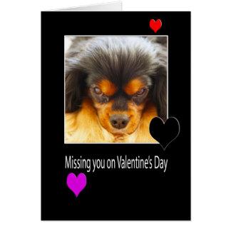 Falta de usted el el día de San Valentín con la Tarjeta De Felicitación