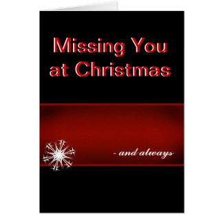 Falta de usted en el navidad tarjeta