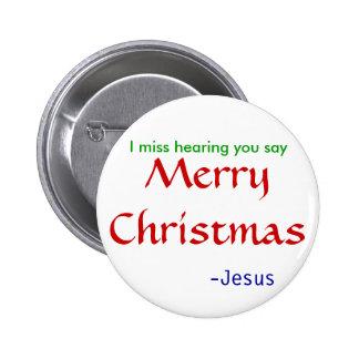 falta que oye las Felices Navidad - redondas Pin