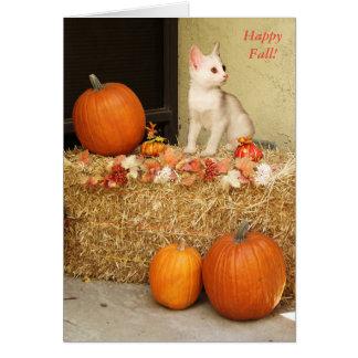 Faltándole gatito de Halloween y tarjeta de las