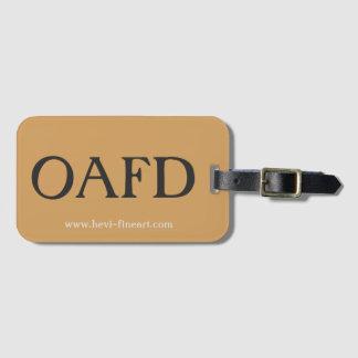 fambly el equipaje marca el oafd con etiqueta