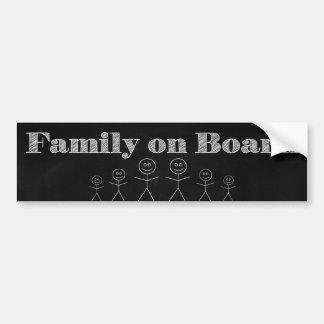 Familia a bordo pegatina para coche