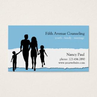 Familia, boda, asesoramiento de la juventud tarjeta de negocios