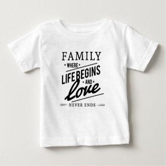 familia camiseta de bebé