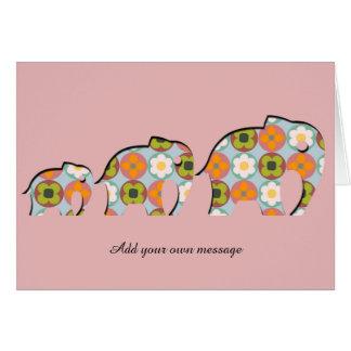 Familia de adornos florales del estilo de Papercut Tarjeta De Felicitación