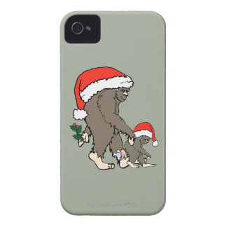 Familia de Bigfoot del navidad Carcasa Para iPhone 4 De Case-Mate