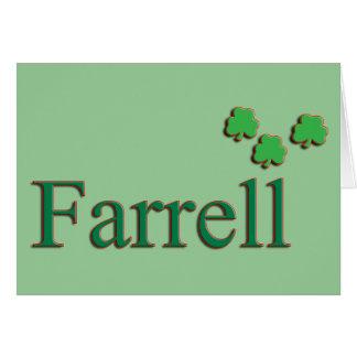 Familia de Farrell Tarjeta De Felicitación