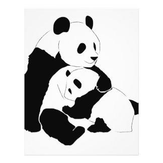 Familia de la panda folleto 21,6 x 28 cm