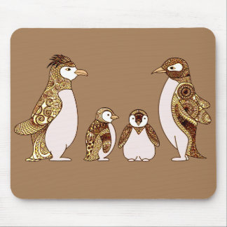 Familia de pingüinos alfombrilla de ratón