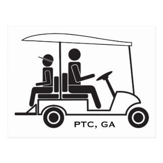 Familia del carro de golf del PTC GA Postal
