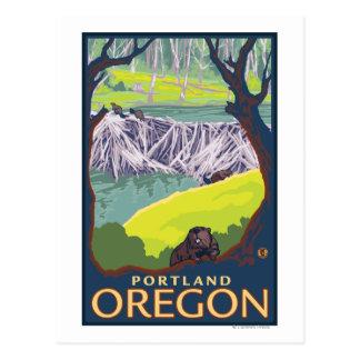 Familia del castor - Portland, Oregon Postal