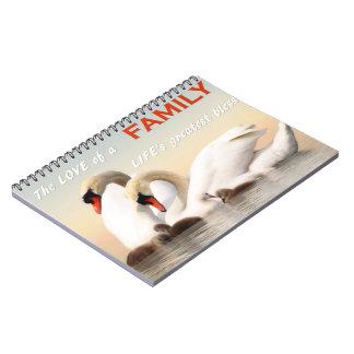 Familia del cisne cuaderno