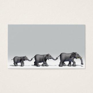 Familia del elefante tarjeta de negocios