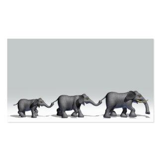 Familia del elefante tarjetas de visita