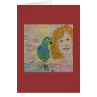 familia del footsbird tarjeta