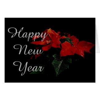 Familia del navidad de la Feliz Año Nuevo de la Tarjeta De Felicitación
