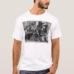 Familia esquimal en fotografía del iglú del camiseta