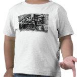 Familia esquimal en fotografía del iglú del camisetas