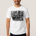 Familia esquimal en fotografía del iglú del invier camisetas