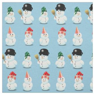 Familia linda de muñecos de nieve tela
