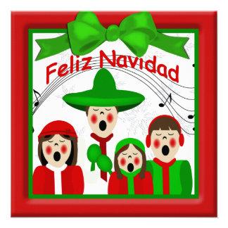 Familia mexicana cuatro de los Carolers del Anuncio
