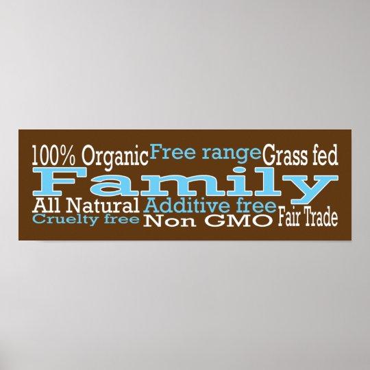 Familia orgánica póster