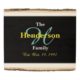 Familia personalizada establecida - nombre y panel de madera