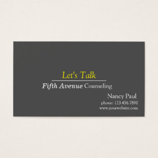 Familia profesional, boda, asesoramiento de la tarjeta de negocios