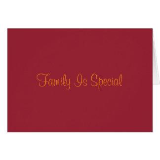 Familia que piensa en usted tarjeta de