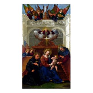 Familia santa con el santo Nicholas de Tolentino Plantilla De Tarjeta Personal