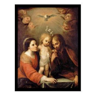 Familia santa con las querubes de Gutiérrez Postal