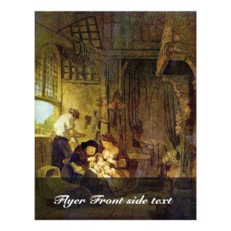 Familia santa de Rembrandt Harmensz. Van Rijn Folleto 21,6 X 28 Cm