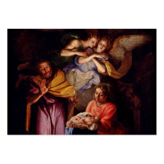 Familia santa y ángeles por Coypel Tarjetas De Visita Grandes