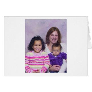 familia tarjeta de felicitación