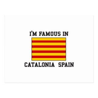 Famoso en Cataluña España Postal