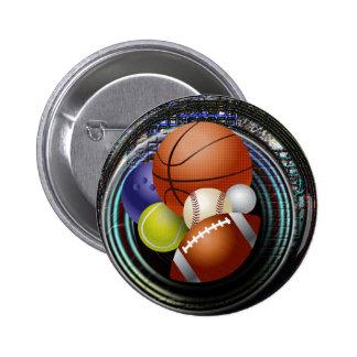 Fan de deportes chapa redonda de 5 cm