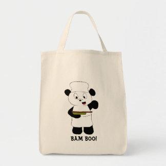 Fan de Emeril Lagasse de la panda del dibujo anima Bolsas