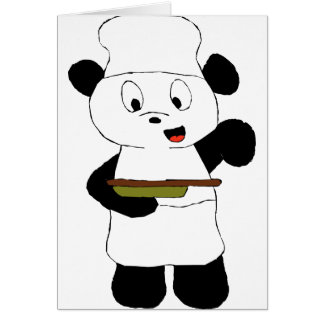 Fan de Emeril Lagasse de la panda del dibujo anima Tarjeta De Felicitación