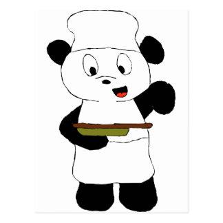 Fan de Emeril Lagasse de la panda del dibujo anima Postal