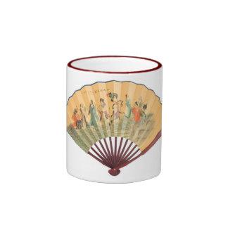Fan del chino tradicional taza de dos colores
