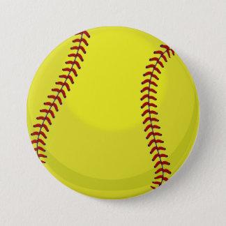 Fan del softball chapa redonda de 7 cm