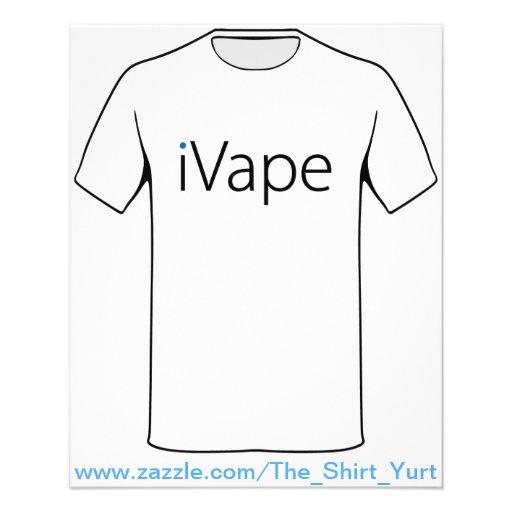 fan electrónica del cigarrillo de Vaping del iVape Flyer Personalizado