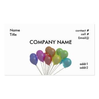 fan en colores pastel de los globos tarjeta de visita