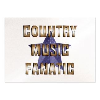 Fanático de la música country de la CAMISETA Tarjetas De Visita Grandes