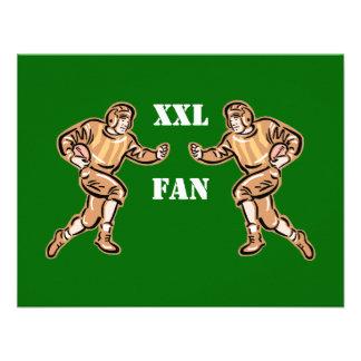 Fanático del fútbol de XXL Invitación Personalizada