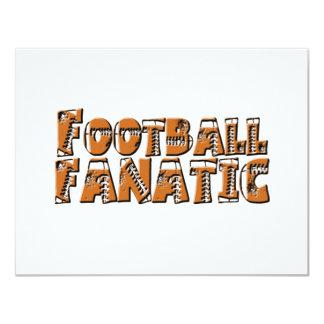 Fanático del fútbol invitación 10,8 x 13,9 cm