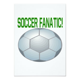 Fanático del fútbol invitación 12,7 x 17,8 cm