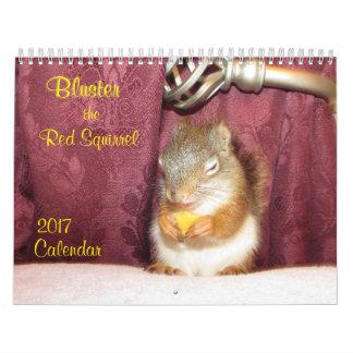 Fanfarronee el calendario de la ardilla roja 2017